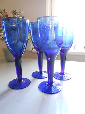 Parlane Tall Chunky Cobalt Wine Water Glass – 21.5 X 8.3cm (set of 4)