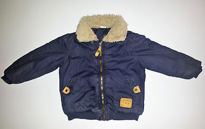 Boys F&F Lined Winter Jacket - Blue - 18-24 Months