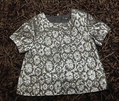 Girls Silver NEXT Party/Christmas Top.  Age 7 Years.