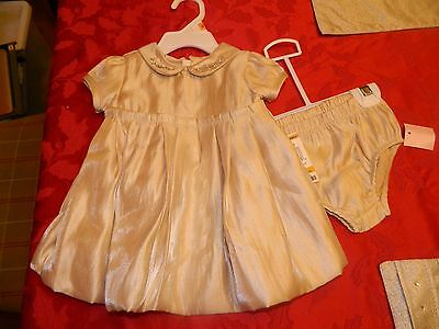 NWT Girls size 0-3 mos. Gold Christmas/Holiday Dress