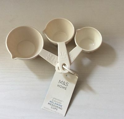 Marks and Spencer Melamine Measuring Cups x 3. New