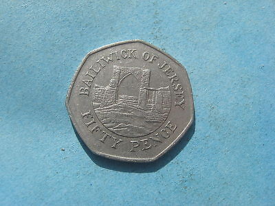 RARE 50p FIFTY PENCE COIN BAILIWICK OF JERSEY 1997 GROSNEZ CASTLE