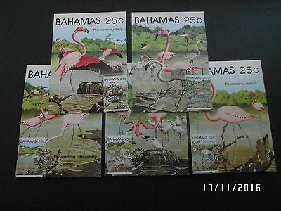 BAHAMAS  PO STAMP CARDS -  FLAMINGOES with FDI STAMP on FRONT - 1982 - 99p START