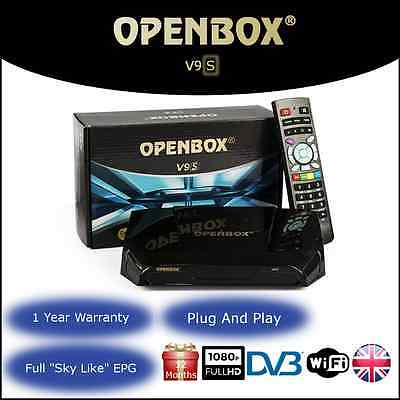 Genuine Openbox V9S Digital Full HD Includes 12 Months Gift Plug And Play