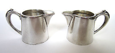 2 Antique Hotel Quality Silver Plated Cream Milk Pitchers