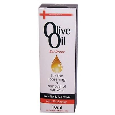 Olive Oil Ear Drops 10ml Ear Wax Removal with dropper 1 Buy get 1 Free