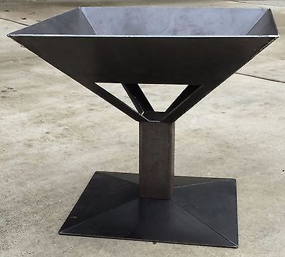 "NEW! 26"" Square Fire Pit, Solid Steel Wood Stove, Made In USA, Campfire, FPRF20"