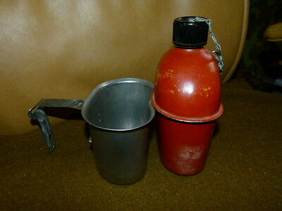 Unusual Ww2 Us Forces Corpsman? Red Canteen And Cup