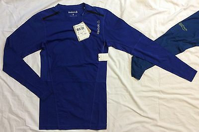 Mens REEBOK One Series Quick Cotton LONG SLEEVE COMPRESSION SHIRT Fitness NWT