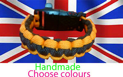 Paracord survival bracelet (Buckle with flint ,steel and a whistle) Fire starter