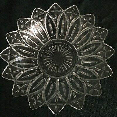 Federal Glass Bowls, Clear Petal Design
