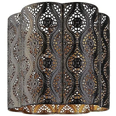 Modern Black and Gold Moroccan Light shade Ceiling Light Pendant New