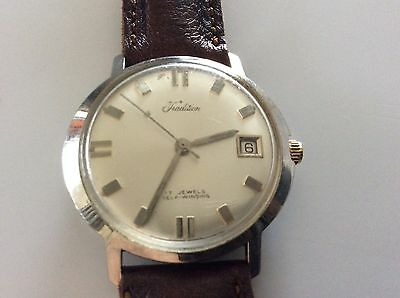 Tradition M Men's Self wind Watch17 j.Date QS New Band Swiss Made GC Runs