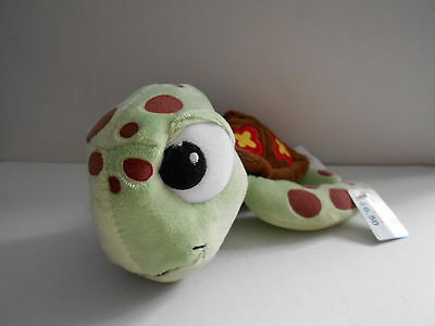 SQUIRT THE TURTLE beanie soft toy, plush/comforter FINDING NEMO Disney Store USA