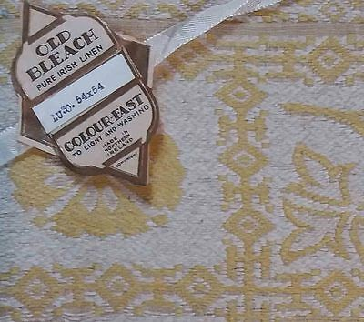 """Packaged Vintage Irish Linen Tablecloth 'Gold' 54"""" x 54"""" -"""