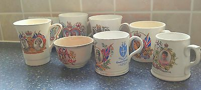 8 Item Collection of Royal Memorabilia, Commemorative Mugs, Teacup, and Plate