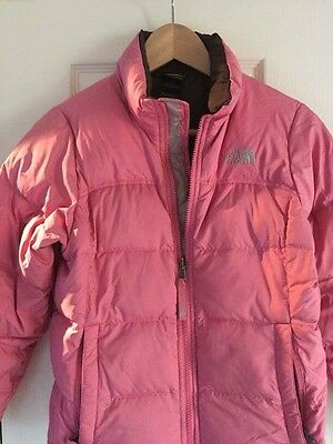 Pink Girls North Face Jacket M Age 10