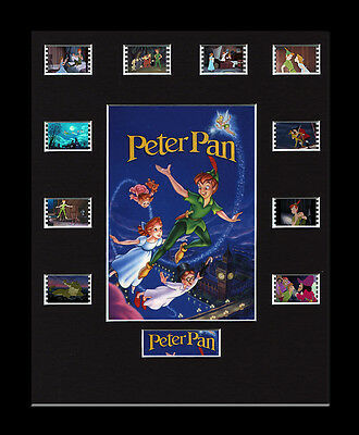 Disney's Peter Pan  - Framed 35mm Mounted Film Cells -10 Cell Display