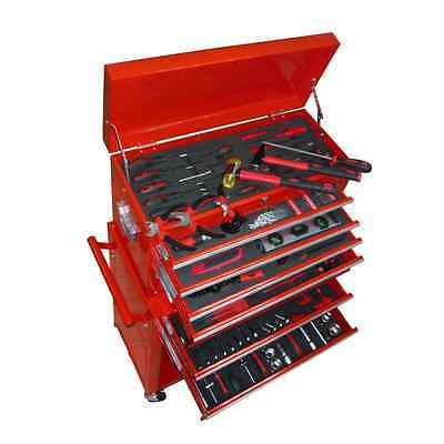 Tool Chest with Tools Metal Roller Cabinet Mobile Box Workshop Garage Storage