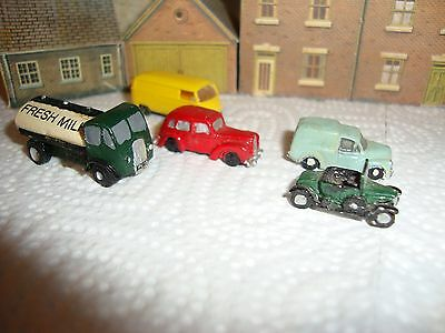 N.gauge 4  Metal  Cars,lorry,   1 Plastic Vw Van  Vintage.