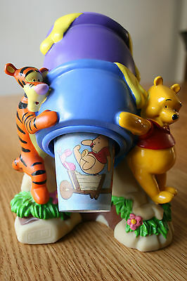 DISNEY's WINNIE the POOH and TIGGER, DIXIE CUP DISPENSER, with HONEY POT