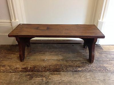 Vintage Wooden Pew Bench seat Stool antique