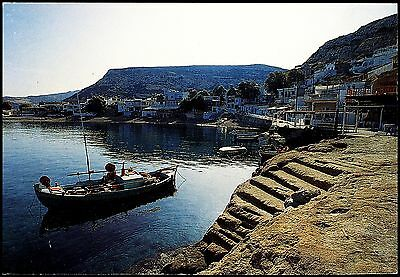 Postcard - Kphth/crete  Matala  Greece - View Of Harbour And Small Boats