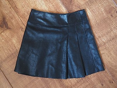 Baby GAP Black Faux Leather Skirt Girls 3 years 2-3 rock
