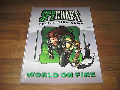 Spycraft 2.0 World On Fire Sourcebook Softcover Mongoose MGP 6117 TOP