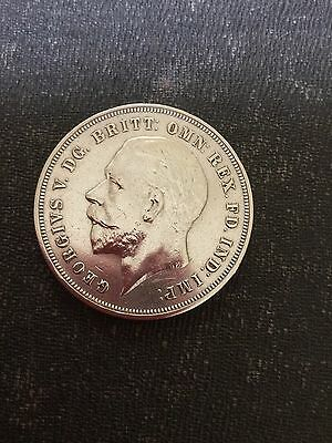 1935 King George V Rocking Horse Silver Crown High Grade