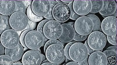 1968/1990 QE II CUPRO NICKEL LARGE/OLD CIR & UNC DECIMAL 5p YOUR CHOICE OF YEAR
