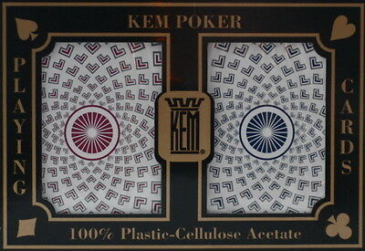 Authentic KEM Pantheon Poker Cards - 2 Deck Set in Protective Case