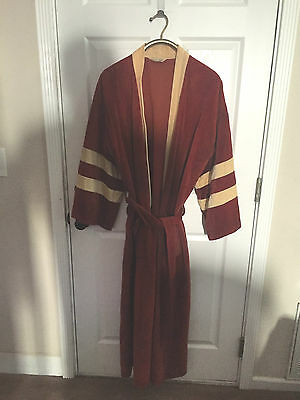 Men's Vintage Designer Kimono Robe Smoking Jacket Playboy 1970 One Size
