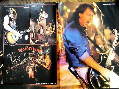 Motorhead American Tour 6 Page Article Poster 1984? Lemmy Kerrang to Frame ?