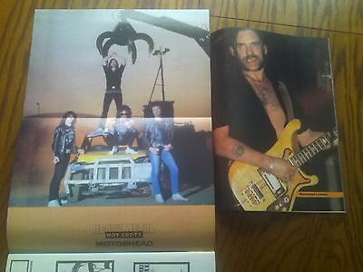 Motorhead 1986 Double Page Poster & Lemmy A4 Page from Metal Mags Ideal to Frame