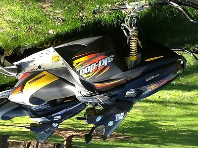 snowmobiles and trailer enclosed