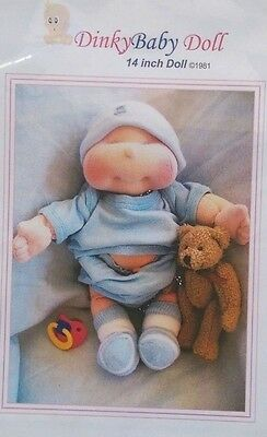 Dinky Baby Doll Sewing Pattern 003 Soft cloth Doll & Accessories CD ROM 14 35 cm