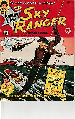 Sky Ranger Adventures No 1 Vintage UK comic - Very Good condition