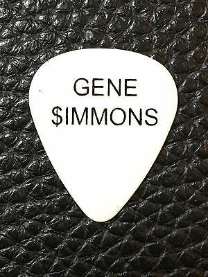 Guitar Pick - Kiss -  Gene Simmons - Real 2012 The Tour- Real Tour Guitar Pick