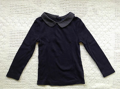 NEW GAP Long Sleeve Collared Tee 18-24M Navy Blue Toddler Girl's NWT