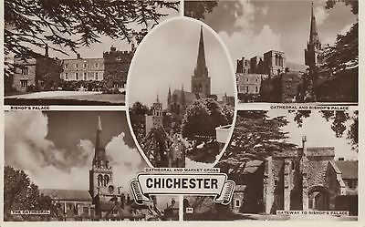 Original RPPC - Real Photo postcard - Multiview Postcard - Chichester