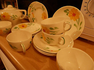 Vintage Childs Ivory Ware Teaset from Hancocks Hand Painted