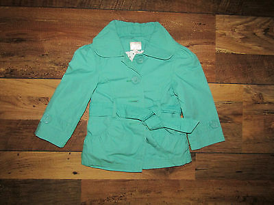 �� Girls * New LOOk green coat / jacket with a belt 12-18 months