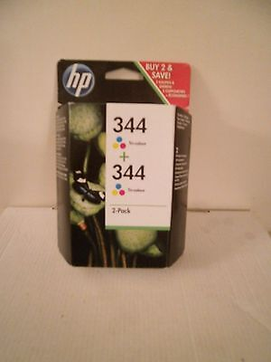 HP Inkjet Ink Cartridges x 2 pack 344 Tri Colour (M)