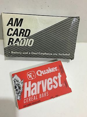 VINTAGE QUAKER HARVEST CREDIT CARD RADIO AM-BAND FROM THE 1970s-1980s