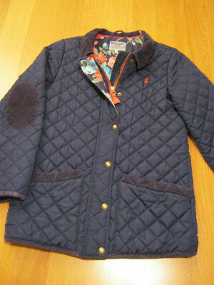 Joules girls navy blue quilted jacket 11-12 yrs