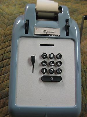 Vintage Victor Tallymaster Adding Machine With Manual And Warranty Card Works!