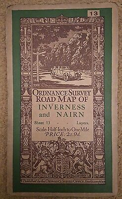 Inverness and Nairn Half Inch Ordnance Survey Map Sheet 13
