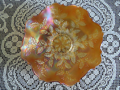Marigold Carnival Glass Bowl Fenton **holly** Excellent Condition