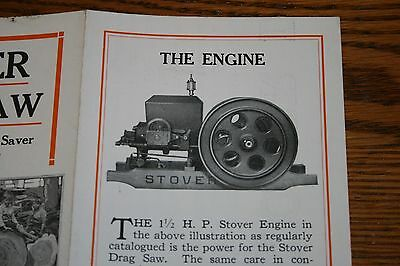 Stover Mfg and Engine Company Advertising Sales Brochure Hit n Miss Gas Engine